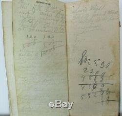 Antique 1863 Union Soldier's Civil War Calendar Diary Pocket Book