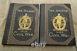 Antique 1884\1885 First Edition The Soldier in Our Civil War With Slipcase