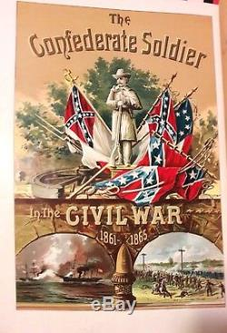 Antique 1897 Confederate Soldier in the Civil War 1861-1865 No. 1 Pictorial Mag