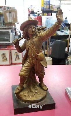 Antique 19thc pre civil war soldier depart cornelius statue. Le depart