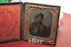 Antique Ambrotype Civil War Soldier