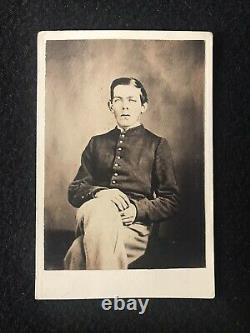 Antique Bath Maine Civil War Soldier With Tax Stamp Cdv Photo