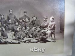 Antique CIVIL War Military CDV Photo, 44th Reg. Mass Vol, Soldiers Identified
