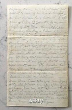 Antique CIVIL War Soldier Letter 1864 Virginia Detailing Battle Of Cold Harbor