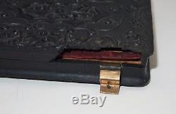 Antique Civil War Armed Soldier Tintype, Sword, Union Case, Upside Down Buckle