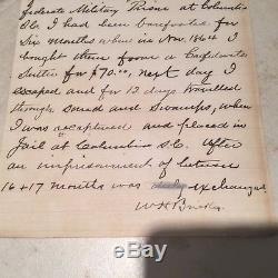 Antique Civil War Era Letter from a Union Soldier