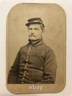 Antique Civil War Union Soldier In Kepi Nice Clear Cdv Photo