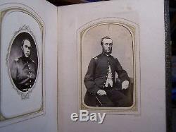 Antique GEM PHOTO ALBUM w5 CIVIL WAR SOLDIER CDV Wheeler Palmer Mead Gillett CT