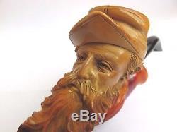 Antique Meerschaum Pipe American CIVIL War Soldier