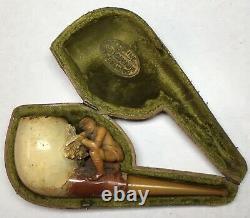 Antique Meerschaum Pipe- Civil War Soldier