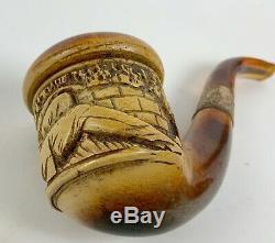 Antique Meerschaum pipe Civil War soldier