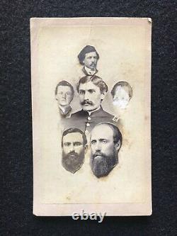 Antique Pennsylvania Civil War Soldier Unusual Cdv Photo Collage Philadelphia