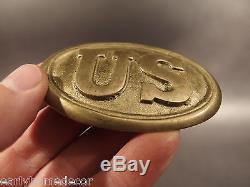Antique Style Military Civil War Union Soldier US Belt Buckle Plate SOLID Brass