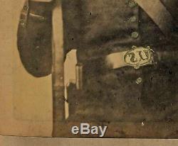 Armed CIVIL WAR SOLDIER named Josiah David Ashenfelter Lrg Albumen Photograph