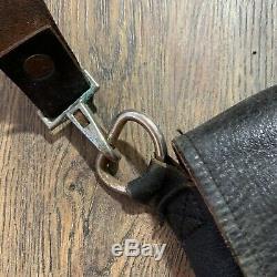Auth Civil War Soldier Leather Messenger Crossbody Bag Shoulder Field Haversack