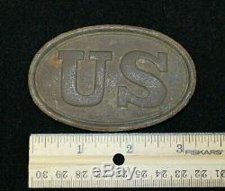 Authentic CIVIL War Union Soldier Belt Plate Discoverd In Murfreesboro Tn