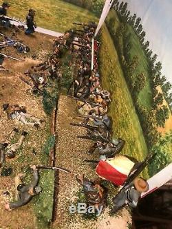 BIG Civil War Battle Custom Pro Built Diorama 1/32 54mm TSSD Conte 16x16inch