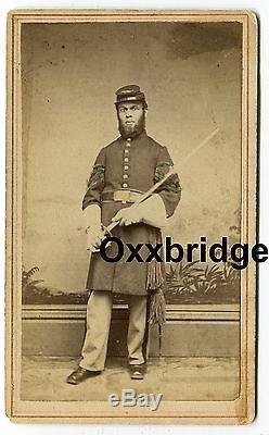 BLACK SOLDIER Original Civil War CDV Sergeant Sword 29th Colored Negro Regiment