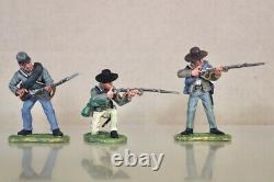 BRITAINS 17529 AMERICAN CIVIL WAR CONFEDERATE SOLDIERS FIRING LINE SET BOXED nv