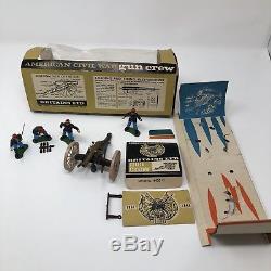 Britains 1961-66 era American Civil War 12 Pounder NAPOLEAN FIELD CANNON & Crew