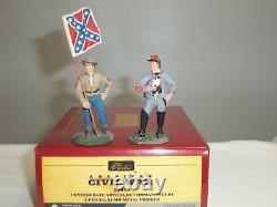 Britains 31033 Confederate Artillery American CIVIL War Toy Soldier Command Set