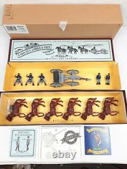 Britains 8869 American Civil War Union Gun Limber And Crew Soldier Horse Wagon