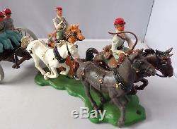 Britains American Civil War Confederate Limber Team and Gun Swoppet Soldiers
