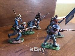 Britains Metal Civil War Soldiers 7 soldiers Confederate Pioneers South