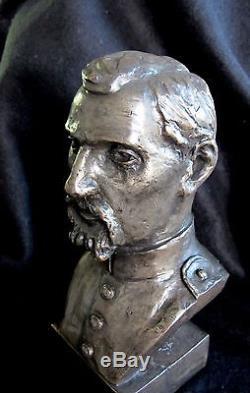 Bronze Lost Wax Cast Sculpture Portrait Civil War Soldier Figure/Bust Original