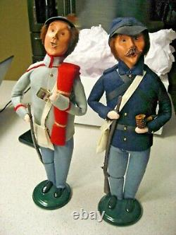 Byers Choice Carolers Confederate and Union Civil War Soldiers