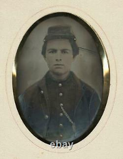 C. 1860's Civil War Soldier Portrait Full Plate Tintype (Confederate or Union)