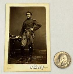 C1862 CIVIL War CDV Cavalry Soldier Sgt Henry H Moore 7th Regt Ny Co G Brady