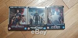 CAPTAIN AMERICA First Avenger Winter Soldier Civil War Steelbook Bluray 4K