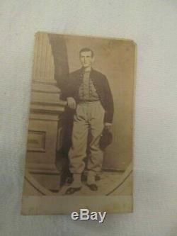 CDV CIVIL War Soldier Zouave ID Ed Soldiers Name & Unit Rare