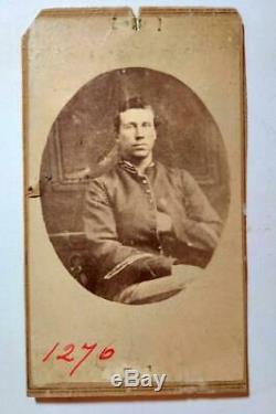 CDV Photo Civil War Confederate Soldier Argus E. Osborn Dead Letter Office