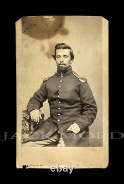 CDV Photo Civil War Soldier Charles Knight Lowell Massachusetts Photographer