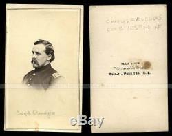 CDV Photo ID'd Civil War Soldier Captain Rudgers 105th NY Confederate Prison POW