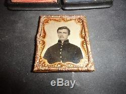 CIVIL WAR 9th Plate Tintype Union Soldier THERMOPLASTIC CASE SHELL JACKET TINT