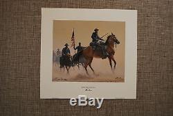 CIVIL WAR Mort Kunstler Signed L/ED Buffalo Soldiers of the West COA