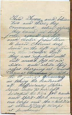 CIVIL WAR SOLDIER LETTER ATLANTA CAMPAIGN BATTLE OF JONESBORO GEORGIA 30TH OHIO