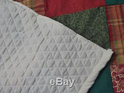 CIVIL WAR STYLE REPRORODUCTION HEAVY HOMEMADE HAND TIED SOLDIERS QUILT 76 X 42