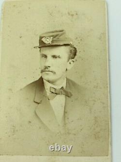 CIVIL WAR Soldier 20th PA Infantry CDV Photograph Identified INSIGNIA ON HAT