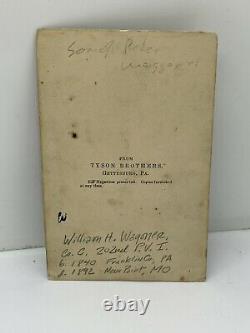CIVIL WAR Soldier CDV Photo Identified 202 Pennsylvania Infantry GETTYSBURG PA