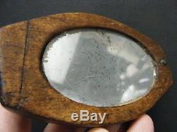 CIVIL War Era Soldier's Hand Held Camp Shaving Mirror Monogrammed Reverse
