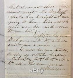 CIVIL War Letter Als Union Soldier Jefferson Davis Capture Caught In Petticoat