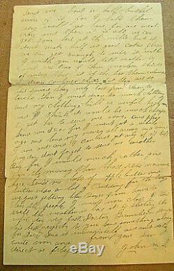 CIVIL War Pennsylvania Soldier Letter Lovettsville Maryland