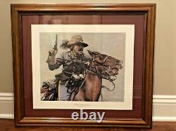 CIVIL War Print The Commander Don Stivers Signed & Numbered Confederate Soldier