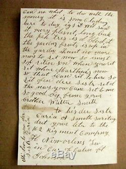 CIVIL War Soldier Letter Louisiana Died A Pow Salisbury North Carolina
