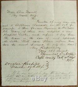 CIVIL War Soldier Mutiny Stephen Douglas Hospital Washington