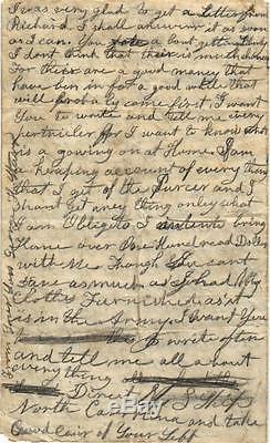 CIVIL War Soldiers Letter, 1/19/1863, U. S. Ship North Carolina